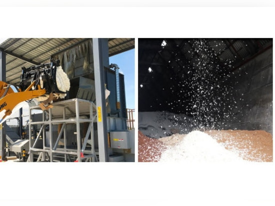 Shredding System and Storage Silo for Shredded Product