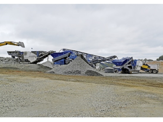 Efficient technology: In a closed circuit, KLEEMANN crushers and screens turn out high-quality final product.