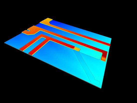 Characterize surfaces on wafer-level like lab on a chip