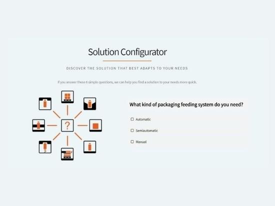 Solution configurator for handling empty bottles