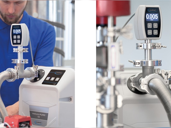 Product variant VACUU·PURE® 10: Oil- and abrasion-free as backing pump for turbomolecular pumps