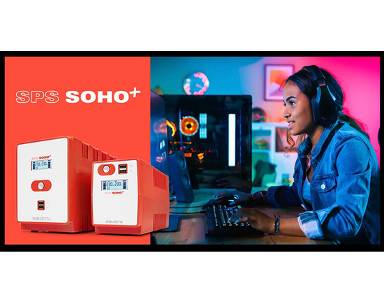 SPS SOHO+, the ideal UPS for gamers