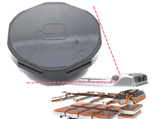 Milvent Venting+Valve protects the battery pack