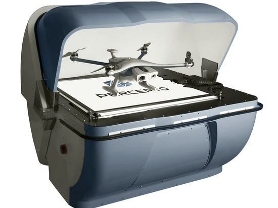 Percepto is particularly known for its drone-in-a-box solution. Sparrow can indeed perform inspection missions on-demand in an autonomous way without the help of an operator
