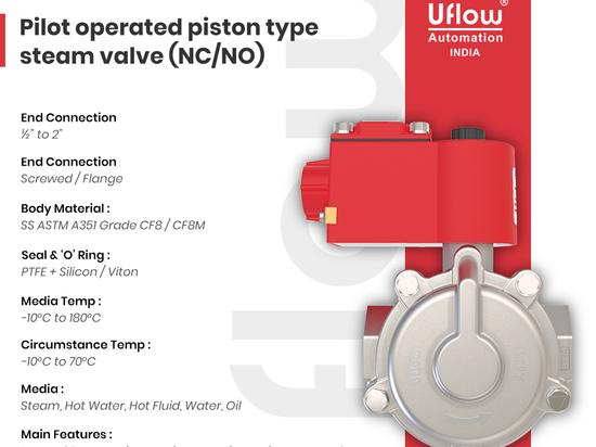 Solenoid valves for steam application