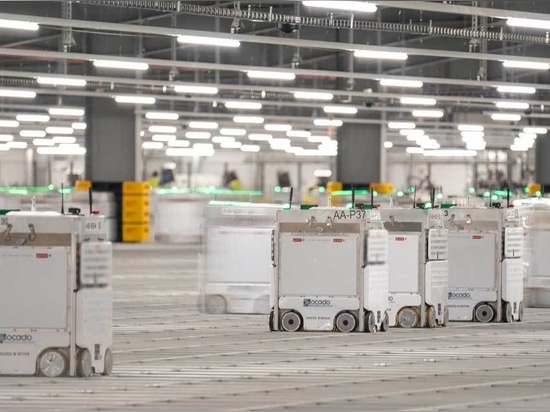 Ocado Group, spun out from a British online-only supermarket chain, provides software and robotics platforms for grocery retailers around the world