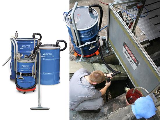 High Lift Drum Vac lift liquids up to 15 feet