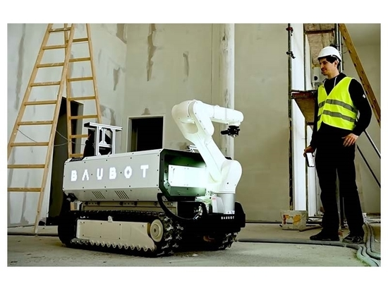 The new Baubot construction robot can lend a hand to many onsite construction tasks.
