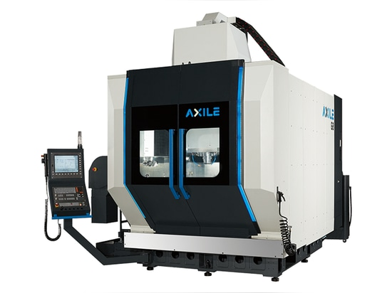 The five-axis machine tools from Taiwanese machine tool manufacturer Axile Machines also come with a smart monitoring system, which uses AI-empowered sensors to monitor mechanical components.