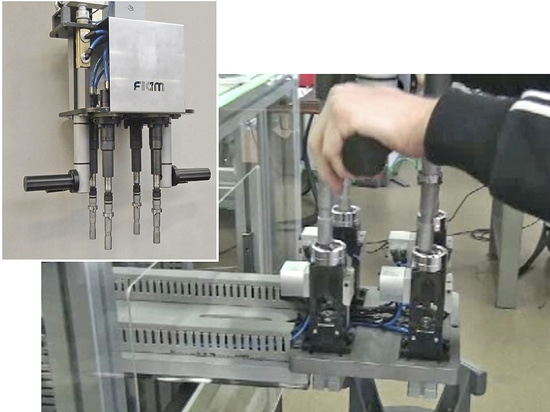Multispindle tightening unit with autofed pick-up station