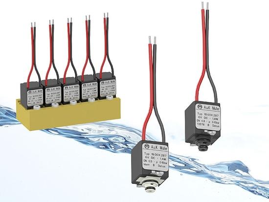 Energy saving, miniature valves