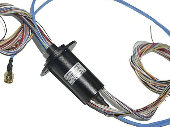 24 wire Slip Ring RF Coaxial Connector, HD-SDI Slip Ring adopt Gold-Gold contact material, JINPAT slip rings supplier