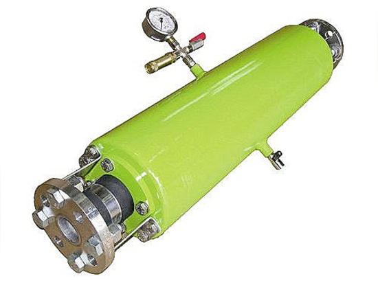 Albin Pump ALHP, pulsation dampener for peristaltic hose pump.