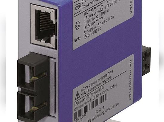 Hazardous area media converters for fibre optic Ethernet