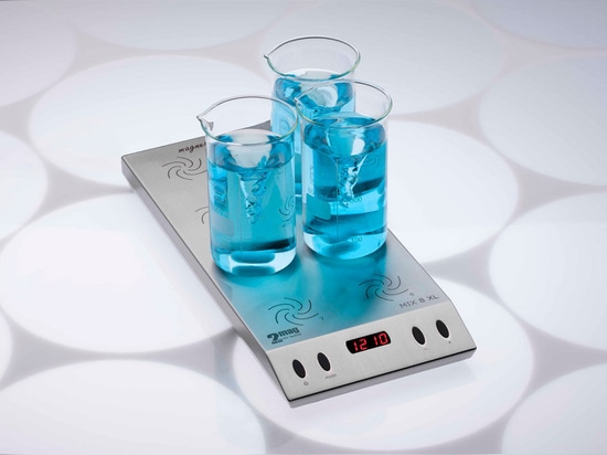 MIX 8 XL - Ultra-flat magnetic stirrer with 8 stirring positions