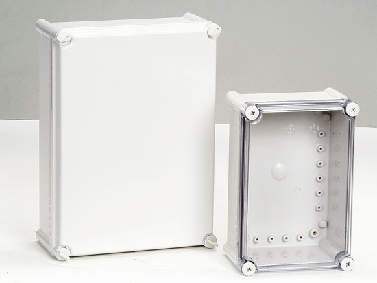 IP66/67 plastic enclosure with screw lid