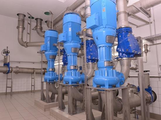 Egger Turo® Vortex Pumps in pumping station Schweinfurt, Germany - storm weather pumps