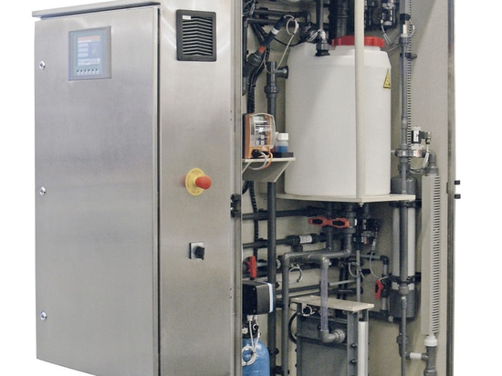 The Electrolysis System DULCO®Lyse produces low chlorate and low chloride disinfectant of a consistent quality at low cost.