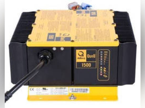 Available in 48 and 72 V models, QuiQ™ 1500 is approved for on- or off-board vehicle applications and meets energy efficiency standards of California Energy Commission. Unit provides 1,200 W contin...