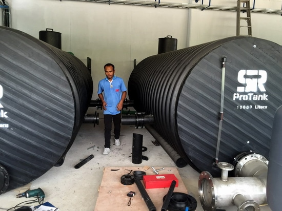Water Tank Made by Reinforced Corrugated Pipe