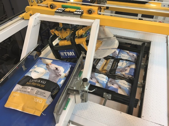 TMI PRESENTS ITS NEW HIGH PRODUCTION PALLETIZER FOR OPEN MOUTH BAGS