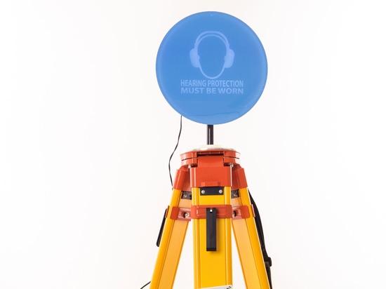 Pulsar Noise Safety Alert System on Heavy Tripod