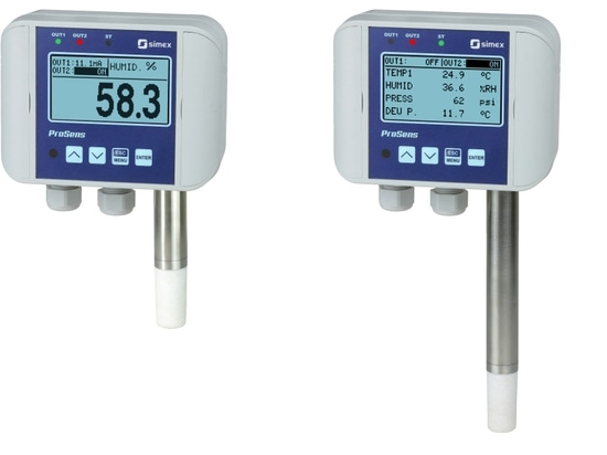 Integrated probes in Prosens line meters