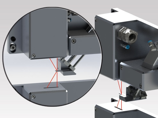 Laser thickness measurement with LTM
