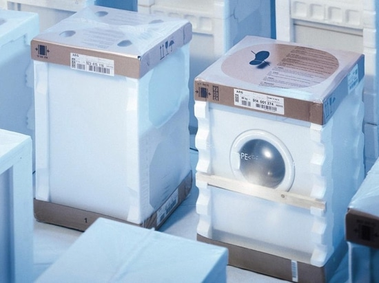 Secure and cost-effective packaging of white goods with film