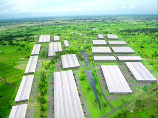The special economic zone where the new factory is based.