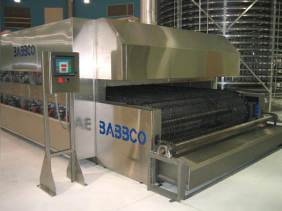 The CH Babb oven's PLC control system allows operators to change between recipes at the touch of a button.