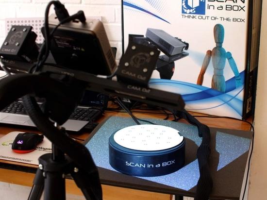 Scan in a Box, a desktop 3D scanner by Open Technologies SRL. Photo via Open Technologies.