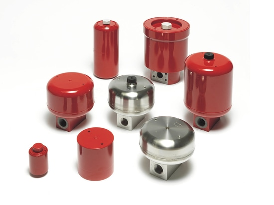 HYDAC manufactures a range of metal-bellows accumulators.