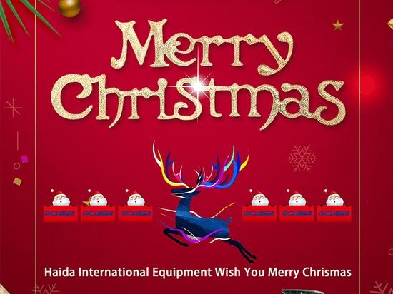 Haida International Equipment Wish You Merry Chrismas
