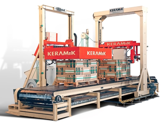 AUTOMATIC STRAPPING FOR BRICK AND PUMICE SECTOR