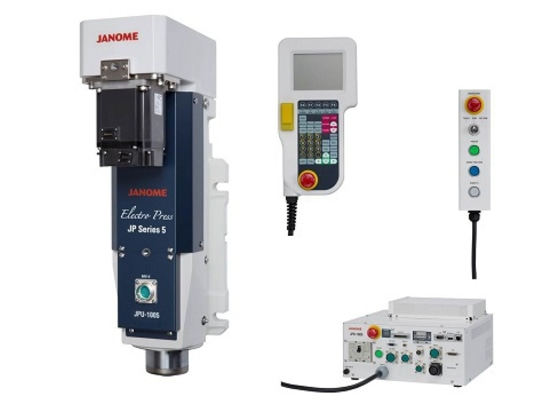 JP Series 5 Press Unit, Controller, optional Teaching Pendant and optional switchbox.