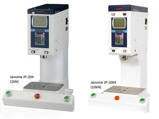 Two models of the Janome JP-4 Series column type servo press