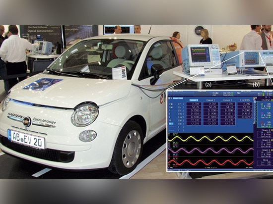 To test the Fiat 500, Linde used a Yokogawa DL850V ScopeCorder (a) and a WT1800 power analyzer (b) connected to the electric vehicle. The ScopeCorder is a multichannel recording instrument for anal...
