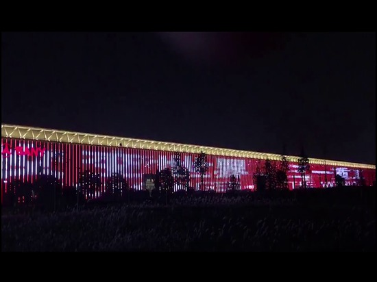 The world's largest LED wall
