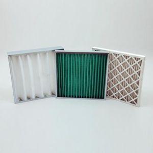 空気フィルター / パネル型 / ファイバーガラス製 / プリーツ形