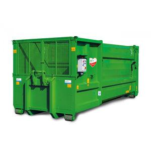 横向き廃棄物圧縮機