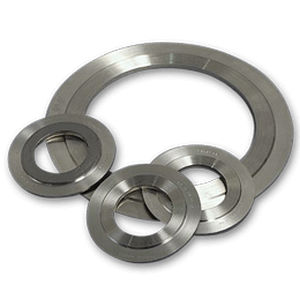 フラットシール材 / 円形 / 金属製 / 黒鉛