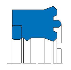 スクレーパーシール材 / ロッド用 / 高圧 / 単動式