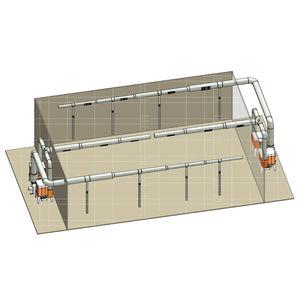 溶接室用通気システム