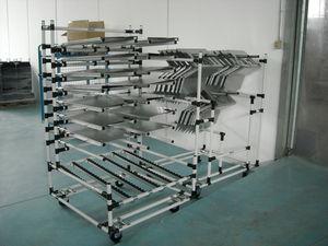 ハンドリング台車 / 金属製 / シェルフ / 多目的
