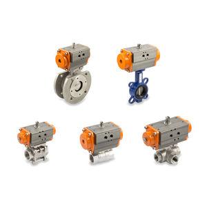 アクチュエータ付きバルブ / バタフライ / 空気圧 / 制御
