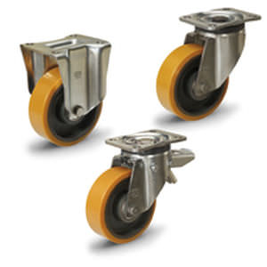 バンド式車輪 / ポリウレタン被覆 / 鋳鉄 / 重量積載用