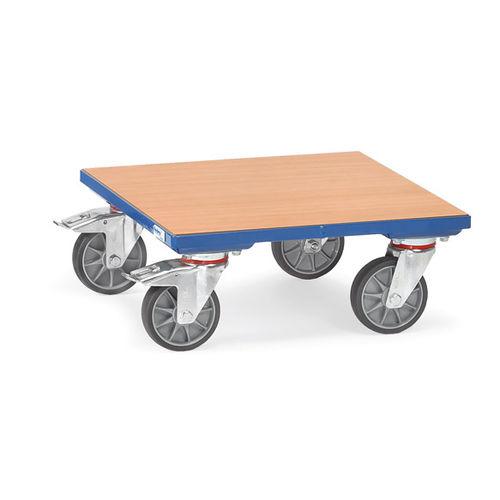 単板製車輪付きプレート