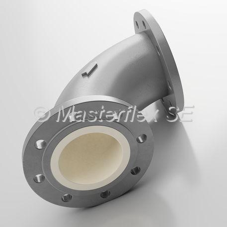 空気圧式輸送用配管エルボー