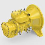 ガスのコンプレッサー / 固定式 / 電気 / スクリュー式